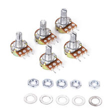 5 pcs B10K Ohm 10K Shaft 3 Pin Linear Rotary Taper Adjustment Potentiometer Pot
