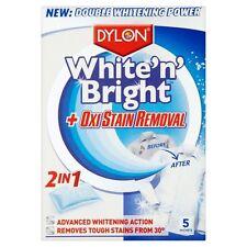 Blanco Nuevo' n ' Brillo Con Oxi Mancha Removedor De Dylon Paquete de 5 Hojas