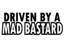 driven by a mad vinyl decal sticker car fun modified mod funny art uk land rover