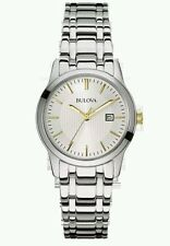 Bulova Ladies Stainless Steel Multi Link Bracelet Watch 98m121. New In Box. 753