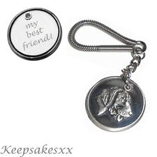 German Short haired Pointer - Dog Tag Disc KEYRING  with PERSONALISED ENGRAVING