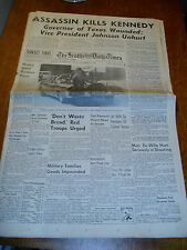 Lot Of 4 November 1963 Kennedy Assassination Seattle Times Newspapers