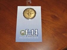 U.S. Air Force F-14 Tomcat Collectors Coin With Case & Placard NEW