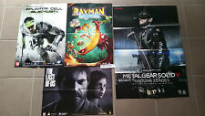 POSTERS TOM CLANCY'S SPLINTER CELL +METAL GEAR SOLID V+THE LAST OF US+ RAYMAN