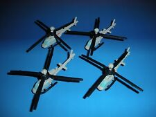 Micro Machines Military Lot Bell OH-58 Kiowa X4 Helicopter Aircraft RARE!!!