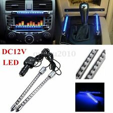 2x 12V Neon Blue 15LED Sound Activated Interior Car Dash Music Rhythm Lamp Light