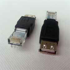 Lot 5pc USB Female to Ethernet RJ45 Cat5 Booster Router Wireless Network Adapter
