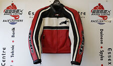 Alpinestars Ladies Dyno Leather Motorcycle Jacket Black Red White EU 42 UK 10