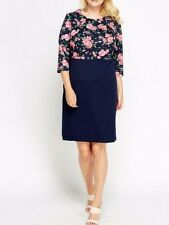 BNWT NAVY BODICE FLORAL WORK PARTY DRESS SIZE 20 PLUS SIZE ♡♡♡