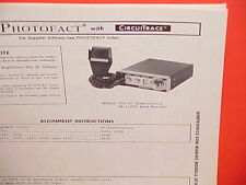 1976 GEMTRONICS / GEM MARINE CB RADIO SERVICE MANUAL MODELS GR-11930 & GTX-36