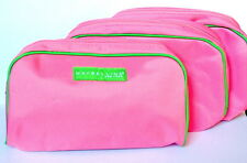 NEW SET of 3 MAYBELLINE Great Lash Makeup Bag LARGE Cosmetic Case PINK GREEN