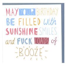 F@ k Un sacco di Booze Biglietto Auguri Compleanno Divertente,Umoristica Vuoto