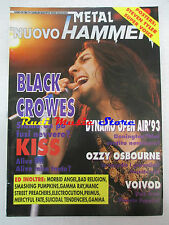 rivista NUOVO METAL HAMMER 7/1993 Black Crowes Voivod Kiss Ozzy Osbourne No cd