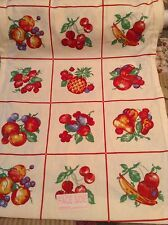 Vintage STYLE Kitchen Towel Fabric MODA HOME Fresh Fruit Farm Market