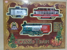 Christmas Classic Train With Real Smoke,Sounds & Headlight 23 Pc Set uk seller