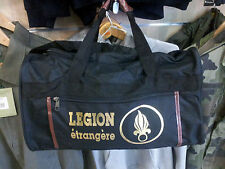 SAC DE SPORT NOIR ET OR LEGION ETRANGERE 45x25cm FOREIGN LEGION FRENCH FRANCE