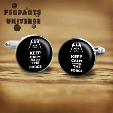 Star Wars Darth Vader handmade cufflinks for geeks, nerds, father's day gift