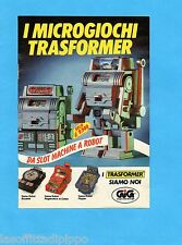 TOP985-PUBBLICITA'/ADVERTISING-1985- GIG - TRASFORMER DA SLOT MACHINE A ROBOT