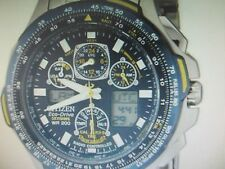 CITIZEN ECO-DRIVE MEN'S WATCH BLUE ANGELS SKYHAWK A.T ALL S/S JAPAN JY0040-59L