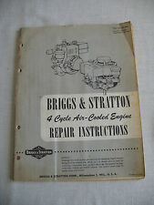 Vintage Briggs and Stratton 4 Cycle Air -Cooled Engine Repair Instructions