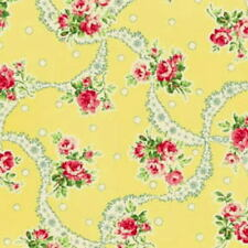 SALE! Cottage Shabby Chic Mary Rose Sweet Charms MR2150-12C Yellow Fabric BTY