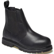 DICKIES STEEL TOE CAP SAFETY DEALER BOOTS BLACK UK 12 EU 47 FD22200 LEATHER