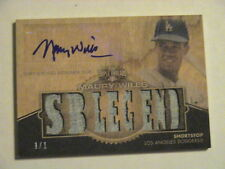 2012 Topps Triple Threads Maury Wills LA Dodgers GU Relic Auto 1/1