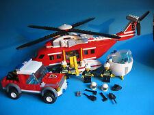 Lego 7206 großer Feuerwehr Löschhubschrauber Fire Helicopter Auto und Zubehör