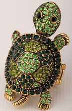 Shaky turtle stretch ring bling scarf jewelry gift 1 dropshipping gold green