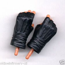 Dragon Models Black Fingerless Gloved Hands Male 1:6 Scale (7312e1)
