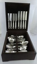 60-piece Silver CANTEEN of CUTLERY, Sheffield hallmarked DINNER SERVICE Boxed