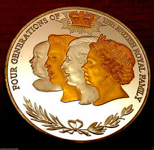 Royal Family Gold & Silver Coin Prince Charles William George Photo Monarchy UK
