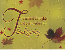 "+""Thanksgiving-""Warmest Thoughts/Best Wishes For Thanksgiving"" ~Post Card~(#91)"
