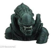"Alien Warrior Vinyl Bust Bank 8"" Statue Aliens Xenomorph AVP HR Giger New Mint"