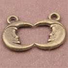 20pc Antique Bronze Crescent moon Pendant Charms Jewellery Making Crafts S329T