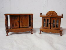 Dutch Colonial Dollhouse Miniature Furniture Wood Sideboard Cabinet Vintage 1:12