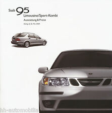 Liste de prix 2004 saab 95 berline sport Kombi 26.5.04 price List voiture voitures