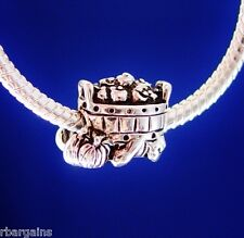 Thanksgiving Holiday Basket Pumpkin Fall Silver European Charm Bead fit bracelet