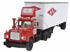 MACK R MODEL WITH 28' PUP TRAILER APA TRANSPORT 1/64 FIRST GEAR 60-0255