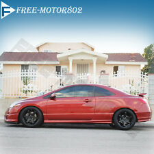 HONDA CIVIC 06-11 COUPE H-PERFORMANCE URETHANE PU SIDE SKIRT ADD-ON 1 Pair
