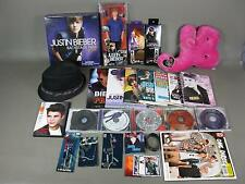 Justin Bieber +One Direction Memorabilia Lot CDs DVD Doll Hat Pillow Jewelry +++