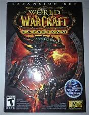 BLIZZARD WOW WARCRAFT CATACLYSM PC DVD ROM GAME LICH KING PACK NEEDED TO PLAY