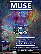 "MUSE / CAGE THE ELEPHANT 2013 ""THE 2ND LAW TOUR"" SALT LAKE CITY CONCERT POSTER"