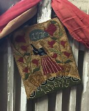 "PRIMITIVE PUNCH NEEDLE PATTERN ~ ""LADY LIBERTY"""