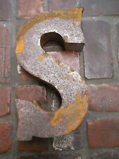 "14 INCH RUSTIC Recycled Metal Industrial LETTER "" S "" 3D TIN Sign ARCHITECTURAL"