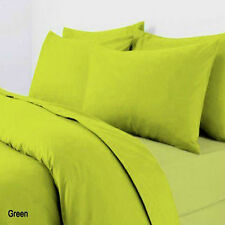 Plain Dyed Duvet/Quilt Cover with Pillowcases Bedding Set Lime Green,Grey,White