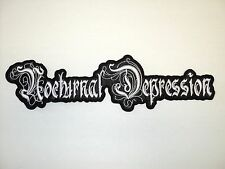 NOCTURNAL DEPRESSION SHAPED LOOGO         EMBROIDERED BACK PATCH