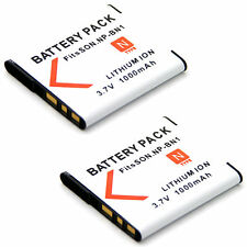 2x 3.7V Battery for NP-BN1 BC-CSN SONY DSC-W810 DSC-W830 DSC-TF1 Digital Camera