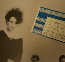 THE CURE 1987 KISSING TOUR CONCERT PROGRAM BOOK PLUS CONCERT TICKET