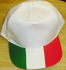 Italy Flag Colors ITALIA Vintage 90s Snapback hat BRAND NEW! Retro Rare Original
